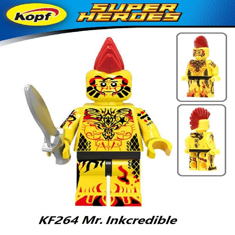 Super Heroes Mr. Inkcredible Ms. Marvel Moana Iron Man Captain America Batman Deadpool Building Blocks Children Gift Toys KF264 ms cx2 4 sensor mr li