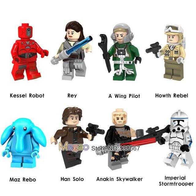 Star Wars Rey Han Solo Stormtrooper Hoth Rebel Anakin Une Aile Pilote