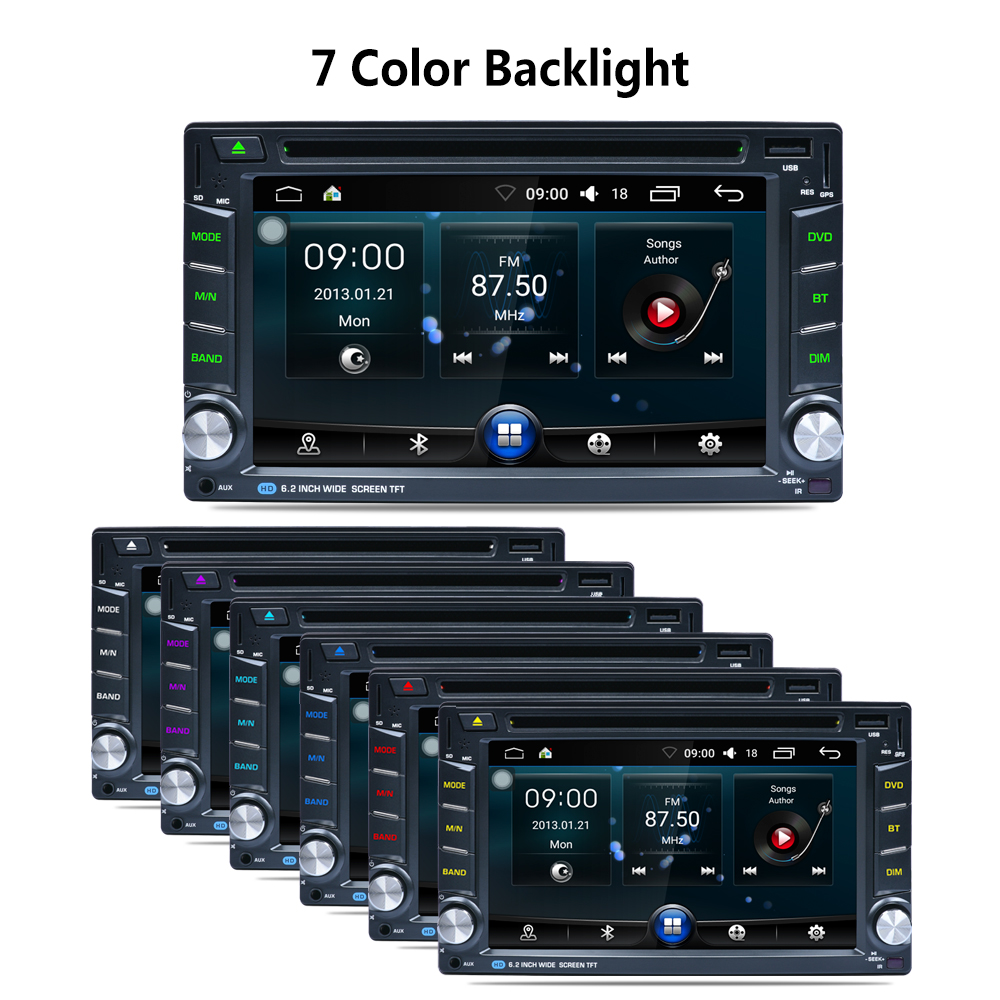 AR6002B Din 6,2 в тире DVD плеер автомобиля Радио авто gps/FM/USB/SD/Bluetooth/HD цифровой сенсорный экран Полный Популярные функция CAM