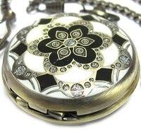 2010 New Vintage Design Notch Crystals Style Pocket Watch Chain
