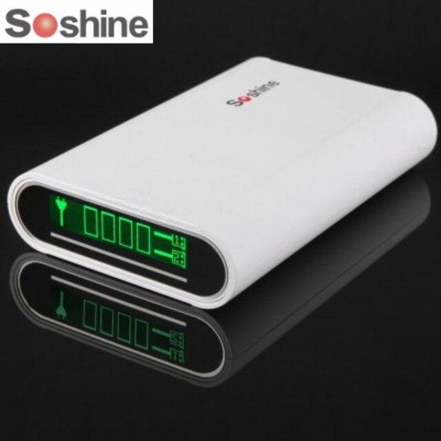SoShine E3 4x18650 Pin Portable Power Bank Charger cho iPhone cho Samsung Di Động USB Di Động Phụ Kiện Chiếu Sáng