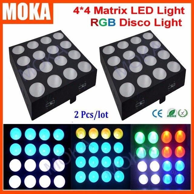 2PCS/LOT Led Matrix Light 16*30W RGB 3IN1 DMX Led Matrix Blinder Hi-Quality 16pcs x 30W RGB COB LED