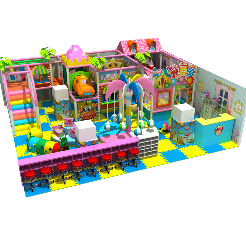 customized Kids indoor soft naughty castle labyrinth playground structure children candy maze park YLW-IN171230 ylw ce approved supermarket kids indoor playground equipment golden factory indoor soft play system