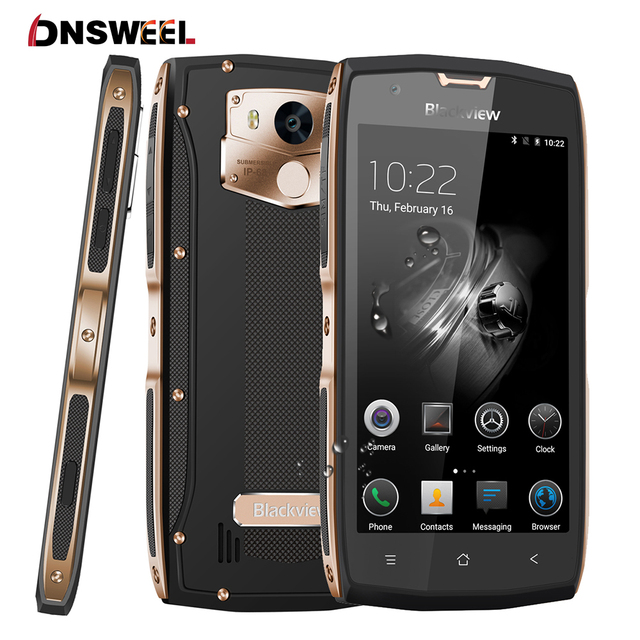 """Blackview BV7000 Pro 4G Smartphone Waterproof IP68 5.0""""FHD MT6750T Octa Core Android 7.0 Mobile Phone 4GB+64GB 13MP cell phone"""