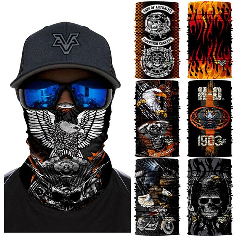 3d Motorrad Gesicht Maske Hawks Harley Bandana Hohe Elastische Neck Buffs Bandana Freien Rohr Schals Jagd Wandern Ski Balaclava