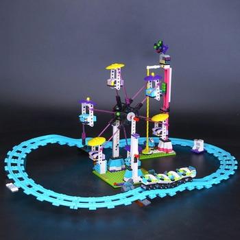 Lepin 01008 Amusement Park Roller Coast Mini Bricks Set fit for Legoing Friends Series 3D Building Blocks Toys For Children 1