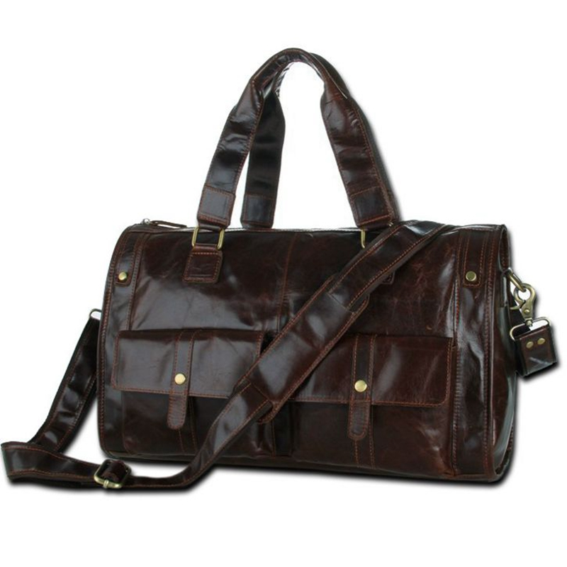 Oil wax Leather Men Bag Business Genuine Leather Handbags Man Crossbody Bags Male Travel Laptop Shoulder Bag Messenger Tote Bags 100% genuine leather men backpack large capacity man travel bags high quality male business bag for man computer laptop bag