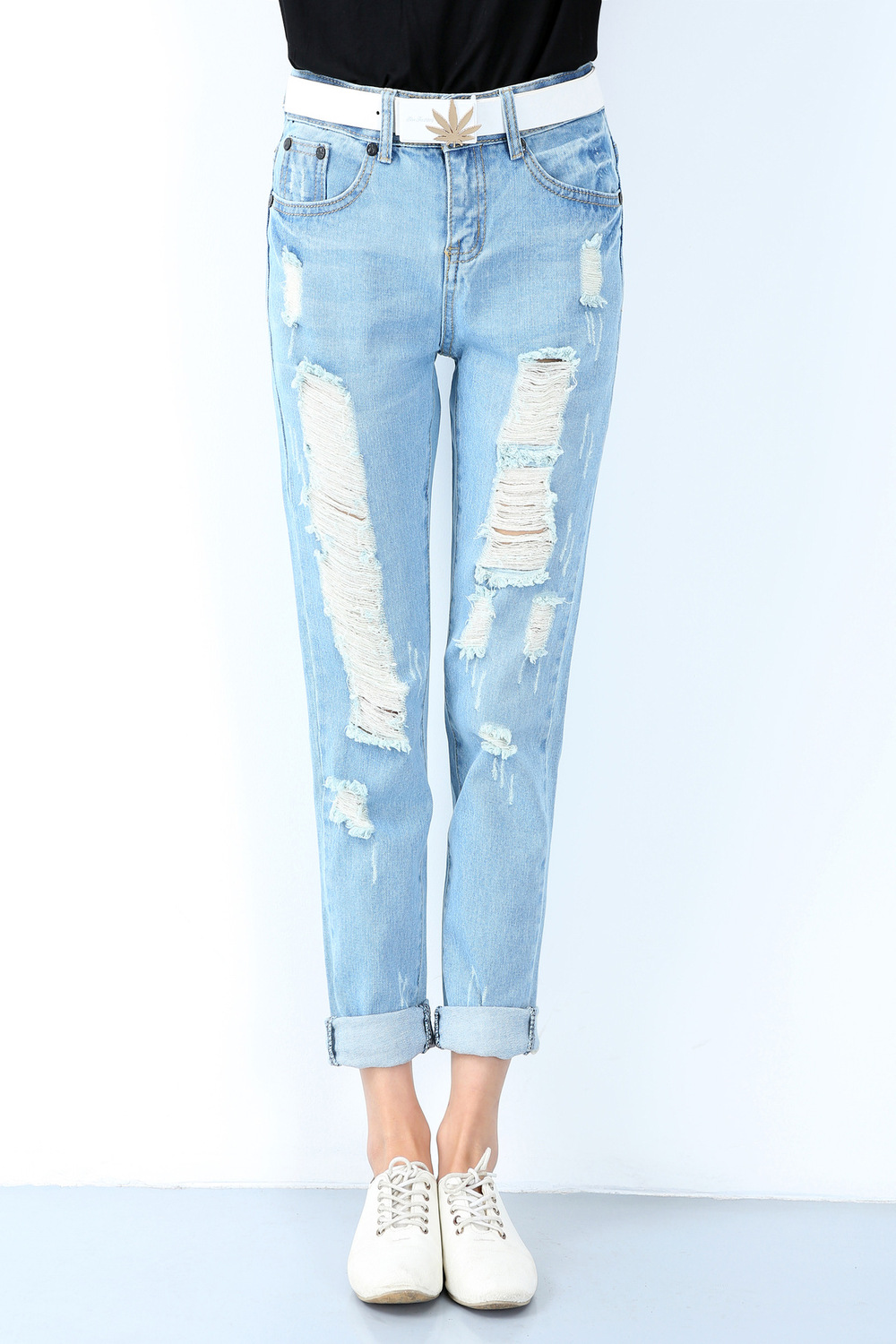 plus size ripped jeans cheap - Jean Yu Beauty