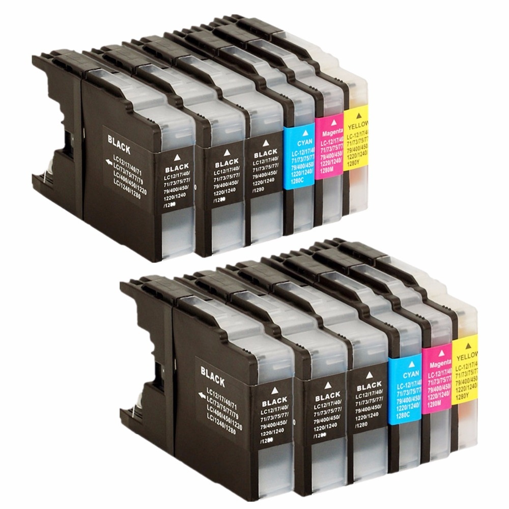 Ink Cartridges Replacement For LC450/1280 LC 450 1280 LC450 <font><b>LC1280</b></font> MFC- J5910DW J6510DW J435W J835DW J280W image