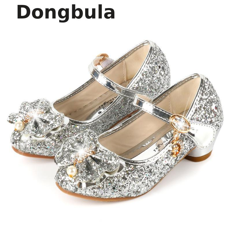 9418f85c9a69 Detail Feedback Questions about Kids Shoes For Girls High Heel Princess  Sandals Fashion Children Shoes Glitter Leather Fashion Girls Party Dress  Wedding ...