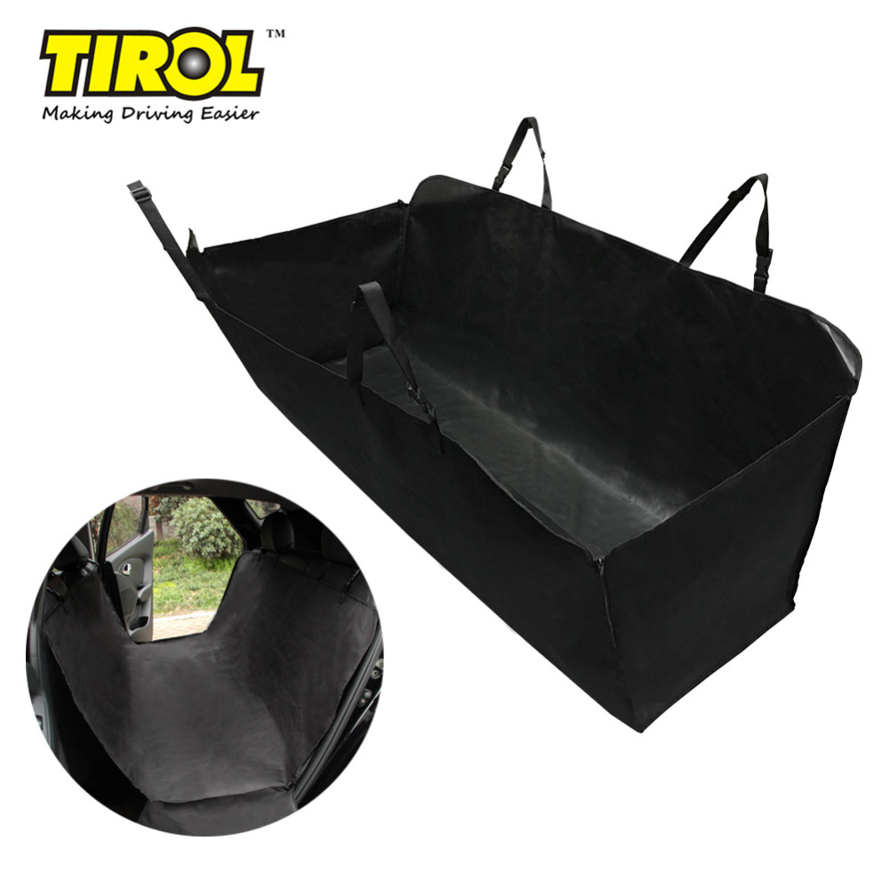 TIROL Pet Dog Car Seat Cover Fold Waterproof back seat cover Hammock Convertible Car Seat Black Fits Most Cars Seat T14623b ...