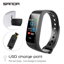 SANDA Bluetooth smart watch heart rate blood pressure health sports fashion big screen step counter bracelet