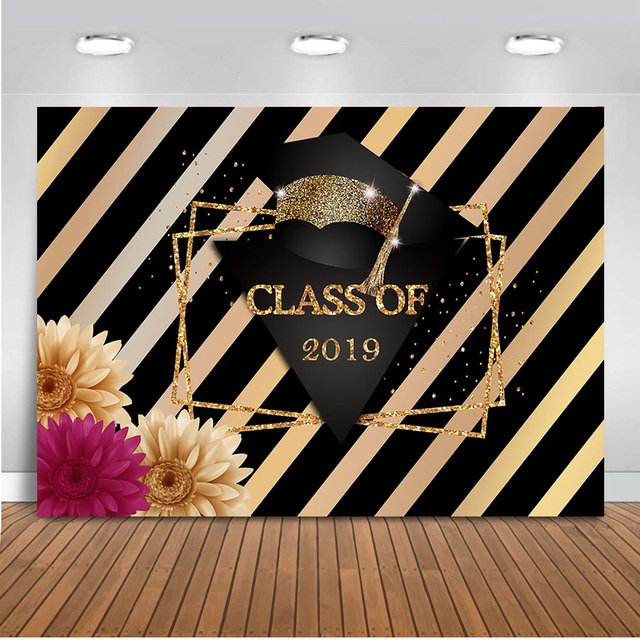 Neoback Class of 2019 backdrop for Photography Graduation Party Decoration Banner Congratulation Background Parties Printed