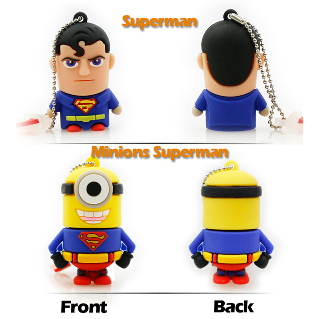 Cool Superhero Minions Flash Drive