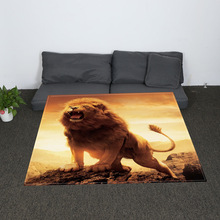 Digital Print Fawn Lion Floral Printed Blankets Throws Bedding Bed Home Bedroom Decoration Flannel Blue