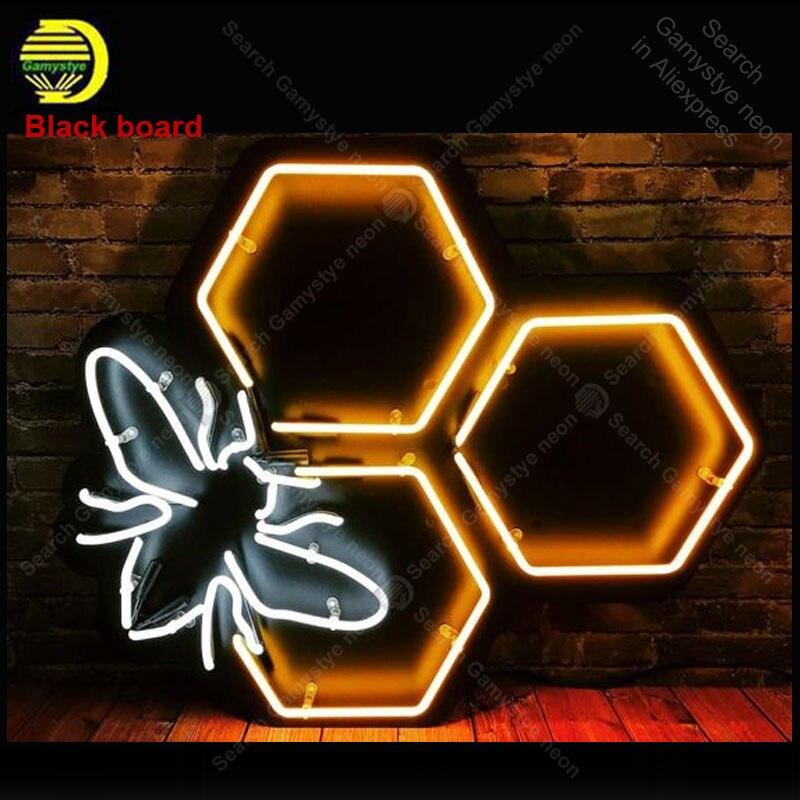Belle enseigne de nuit au néon pour abeille emblématique Restaurant salle murale artisanat hôtel lampe personnalisée annonce Letrero enseigne lumine au néon