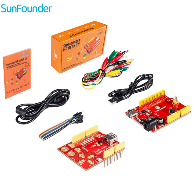 SunFounder FruitKey USB Keyboard DIY Starter Kit Gamepad Control ...