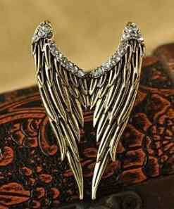 Europe And the wind Restoring Ancient Ways Ring Stereo Punk Angel Wings Ring Personality
