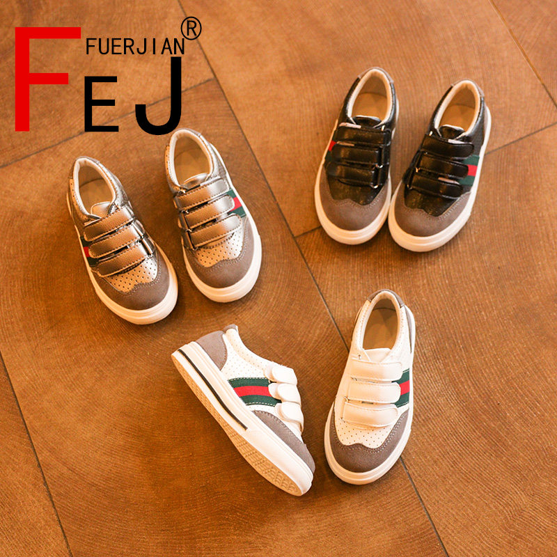 Kids Shoes 2017 FUERJIAN Spring New Breathable Casual Boys Girls Shoes Sneakers Retro Fashion Children Shoes