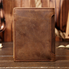 цена Genuine Leather Wallet for Men Mini Money Bags Short Purse Credit Card Holder Cash Coin Pocket Male Small Solid Standard Wallets онлайн в 2017 году