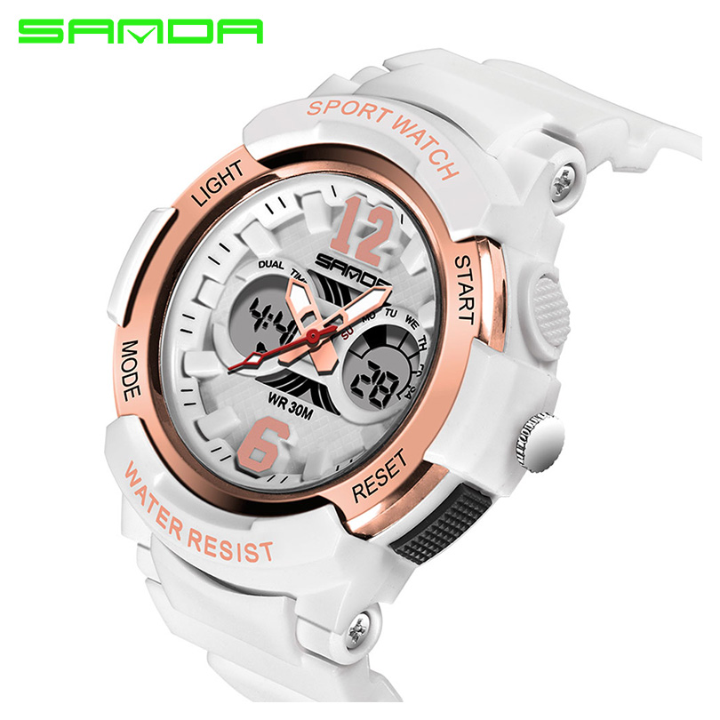 SANDA Brand 2018 Electronic Sport Watch Women Watches Ladies Led Digital Wristwatch Female Clock Montre Femme Relogio Feminino sport student children watch kids watches boys girls clock child led digital wristwatch electronic wrist watch for boy girl gift