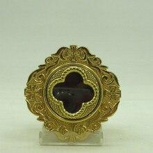 Ostensorium Медь Святой коробка дароносица католической принадлежности церкви Святой вещи небольшой изысканный легко носить с собой Keepsake подарок