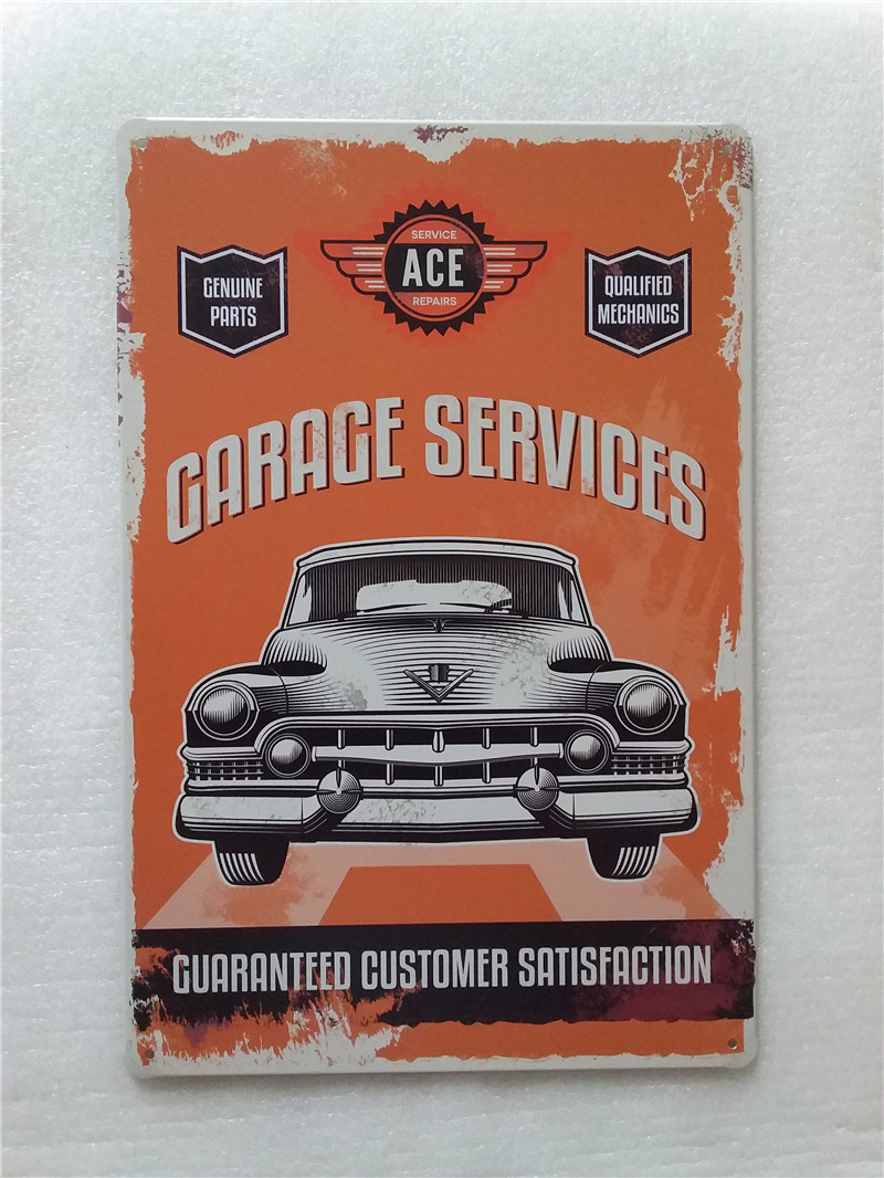 Vintage Garage Metal Signs Car Home Decor Plaque Metal Wall Art 20*30cm-in Plaques u0026 Signs from Home u0026 Garden on Aliexpress.com | Alibaba Group & Vintage Garage Metal Signs Car Home Decor Plaque Metal Wall Art 20 ...