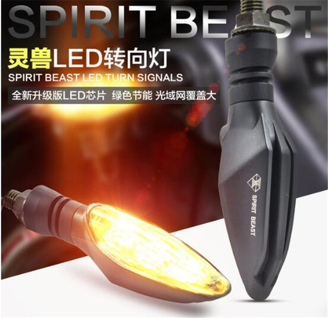 2018 NEW Spirit Beast 2pcs/lot motorcycle modified turning signals light Super bright waterproof LED Steering light