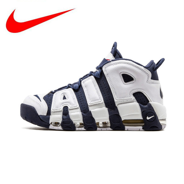 bab615135195 Original Nike Air More Uptempo Olympics Men s Basketball Shoes Sports  Sneakers Trainers 414962-104