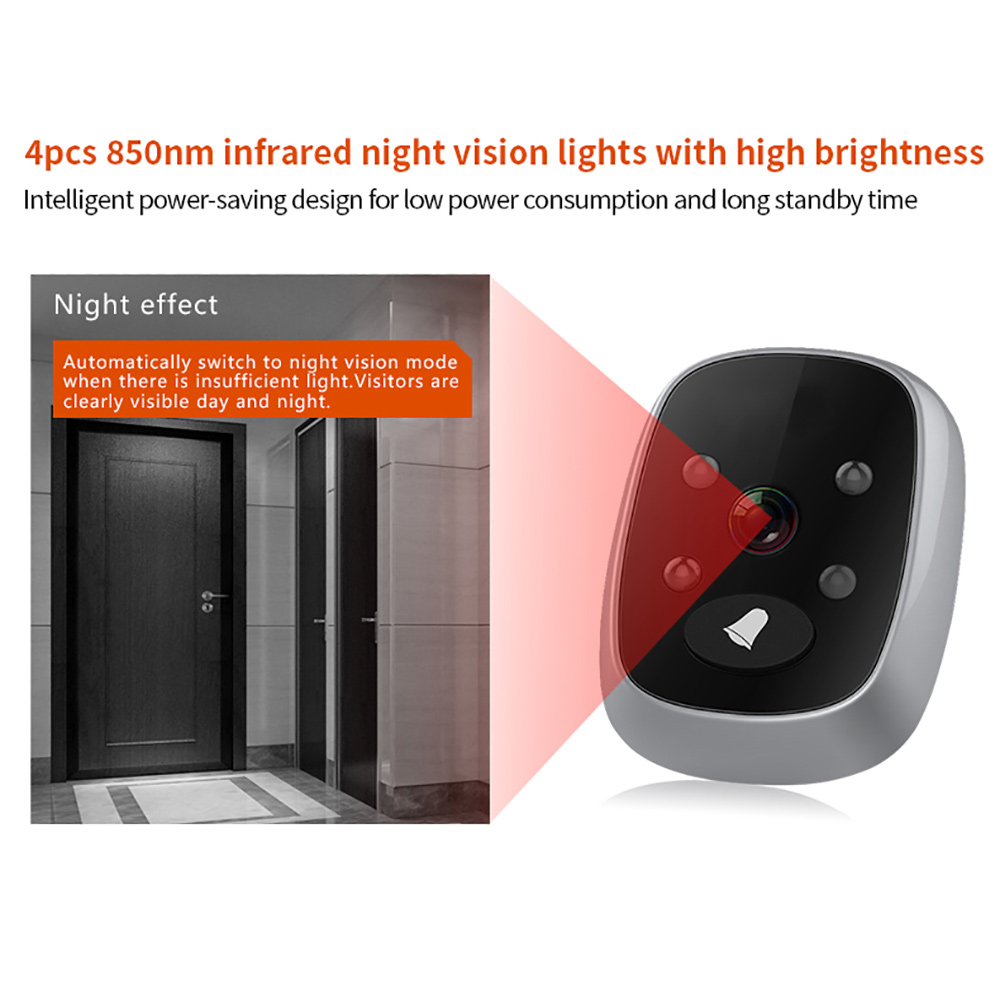 Electronic Wireless Video Voice Doorbell Night Vision Wide Angle Long Standby HD Doorbell SD998Electronic Wireless Video Voice Doorbell Night Vision Wide Angle Long Standby HD Doorbell SD998