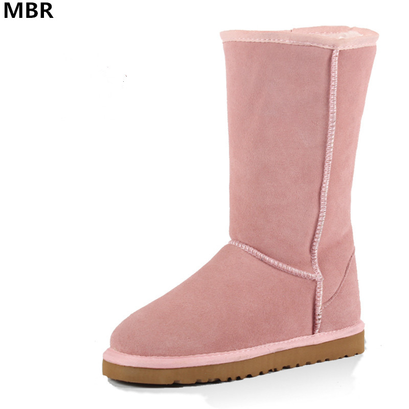 MBR Fashion UG Women Snow Boots Australia Classic High Quality Genuine Leather Warm women Winter boots UG botas mujer Size 34-44 goncale high quality band snow boots women fashion genuine leather women s winter boot with black red brown ug womens boots