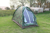 ISF Ultralight Outdoor Portable One Person Single Layer Camouflage Camping Tent Waterproof Hiking Travel Tent Equipment