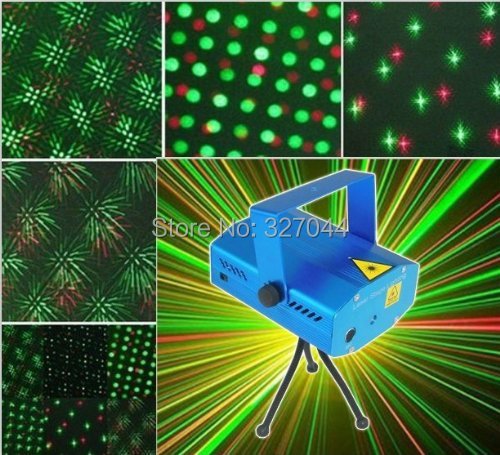Mini Mixed Stage Lighting Mini LED R&G Laser Projector Stage Light Adjustment DJ Disco Party Club Free Shipping