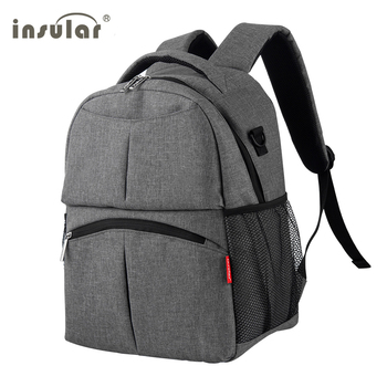diaper bag maternity bag High-quality breathable mommy travel backpack Baby care nappy backpack stroller bag gray /black Nappy Changing