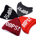 New Winter Warm Knitted Yarn Hat OPPS Letters Hat For Women