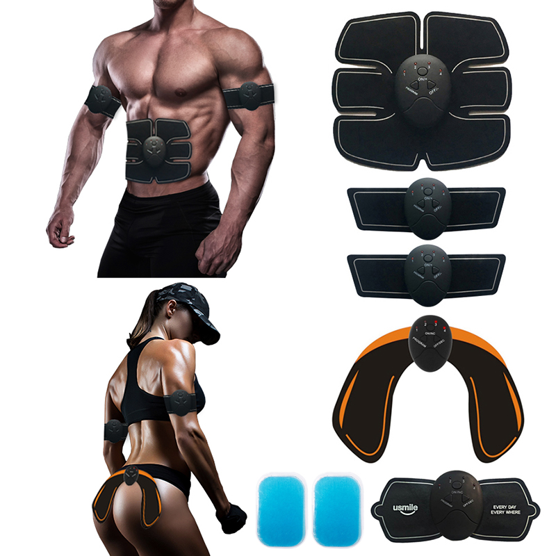 Abdominal Muscle Trainer Massage Stimulator Ab Wireless Vibration Body Slimming Machine Fat Burning Fitness Training Hip Workout