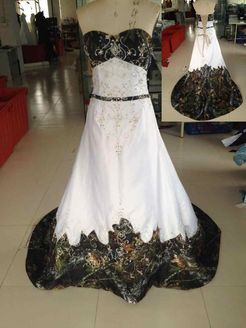 2019 New Style Mossy Oak Camo Wedding Dresses Camouflage Gowns