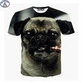 Mr.1991 new 11-20 years teens boys tshirt dog smoking 3D printed children's t-shirt for girls America style unisex tops DT21