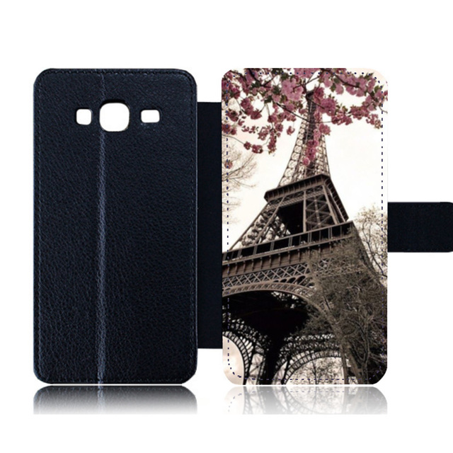 buy popular 69efb 1fa8b US $9.58 |Personalised Leather Case for Samsung Galaxy J3 2017 Eiffel Tower  Print Stand Wallet Card Slots Cover for Samsung J5 J7 2017-in Flip Cases ...
