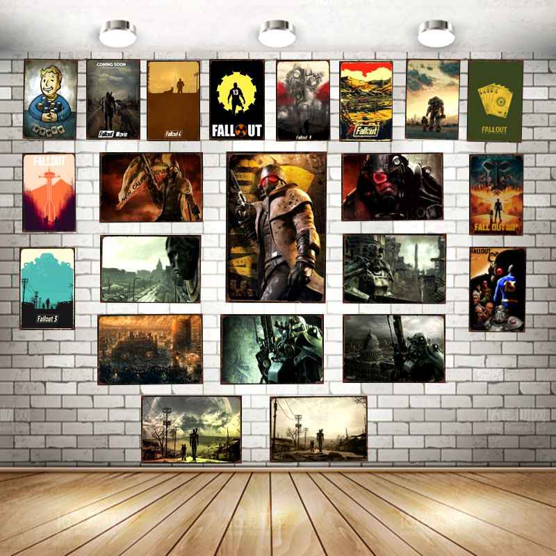 Fallout Game  Metal Tin Sign Vintage Plates For Wall Pub Home Art Retro Bar Decoration A-5774