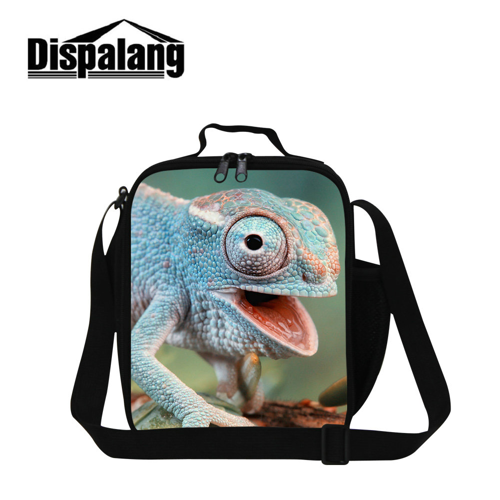Dispalang animal lizard print lunch bag for boys bluey cabrite thermal cooler bags for school meal