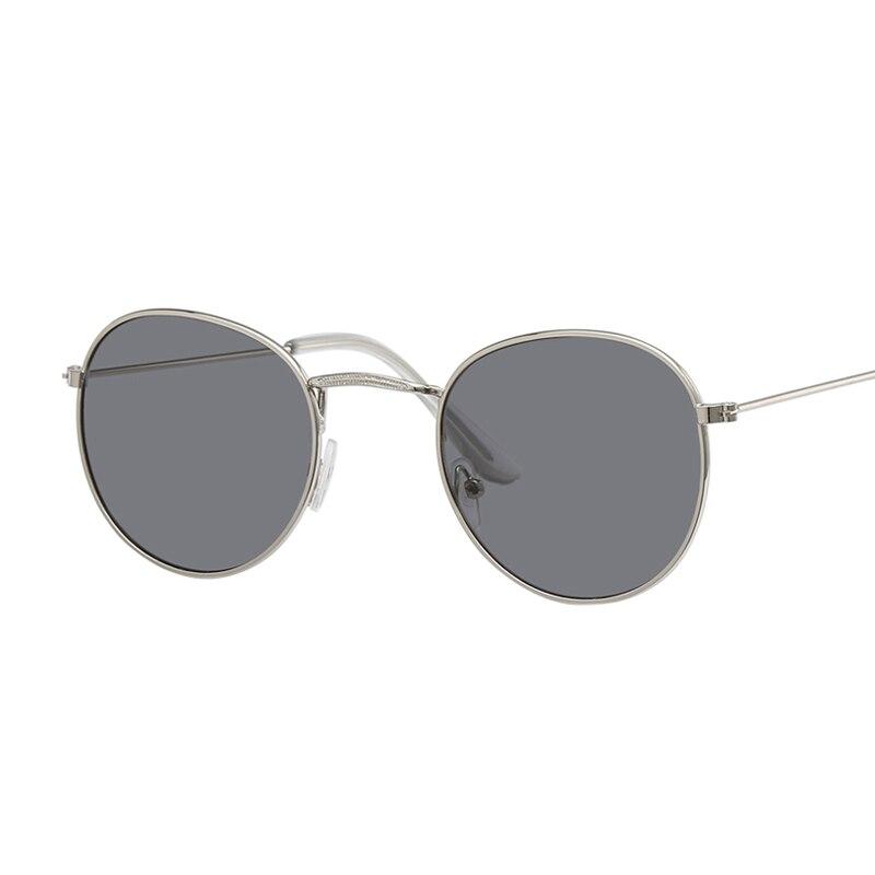 New Brand Designer Vintage Oval Sunglasses Women Retro Clear Lens Eyewear Round Sun Glasses For Female