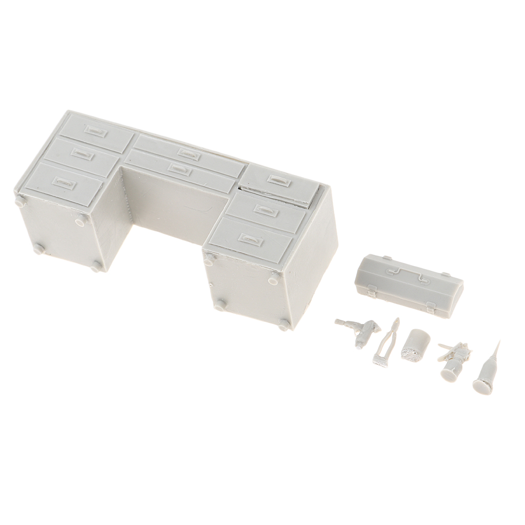 1/35 Resin Model Unpainted Kit WWII Soldier Scene Sand Table Accessories Workbench Model Toys