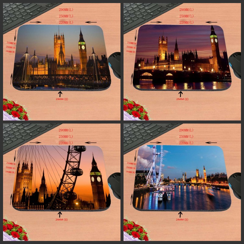 New York Scenery New Arrival Customized Rubber Gaming Mouse Pad Computer Notebook Non-Slip Mousepad 18*22/25*20/29*25*2cm