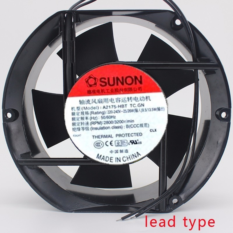Sunon A2175 HBT 230V AC 50 60Hz 171x151x51mm 17CM 17251  Cooling Fan sunon ac 220v aluminum cooling fan 120 x 120 x 25mm computer