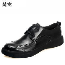 all-match cowhide Business Leisure Shoes men luxury shoes designer Lace-Up male Dress  British retro