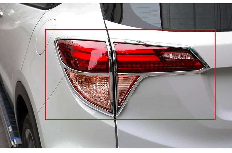 2017 for <font><b>honda</b></font> <font><b>hrv</b></font> <font><b>accessories</b></font> chrome tail light cover lamp surrounds frame trim for vezel /<font><b>HRV</b></font> 2014-2016 car styling <font><b>hrv</b></font> image