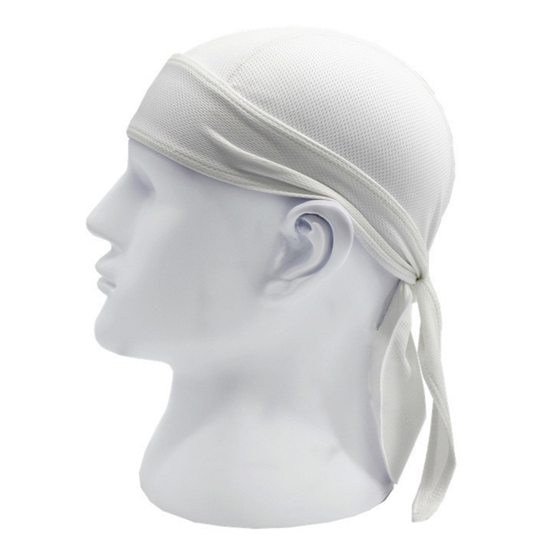 Sports soft equipment riding outdoor sports hat scarf breathable quick-drying sunscreen motorcycle cap color:white