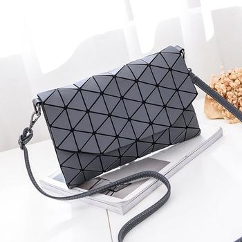 New small solid plaid geometric envelope style handbag 2