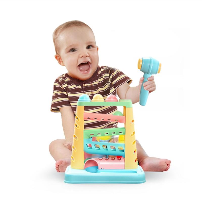 Чайник выбить мяч игрушки детские руки забивая мяч Box Дети раннего обучения Развивающие игрушки подарки